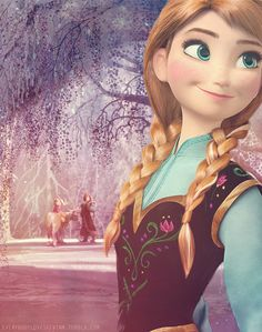 Frozen~Anna. I feel like Anna doesn't get enough respect. Anna is the one who braved the cold and went out to try to help her sister and her kingdom. I love Elsa, but she was bound by fear, and Anna never has that problem. She is bold and loving and sacrifices herself, so why is Elsa considered the star of the movie and the best character? At LEAST set them as equals and talk about Anna for once.