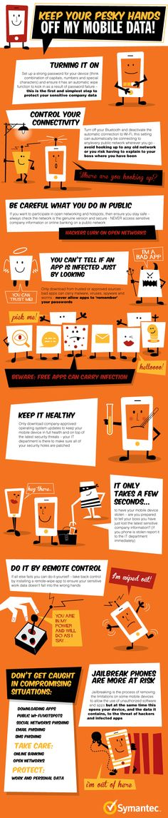 Quita tus manos de mis datos móviles #infografia #infographic #internet