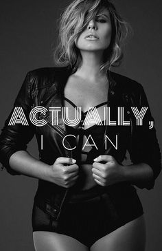 ACTUALLY I CAN!!!! You can do anything! Don't let anyone tell you different! #unstoppable #strength