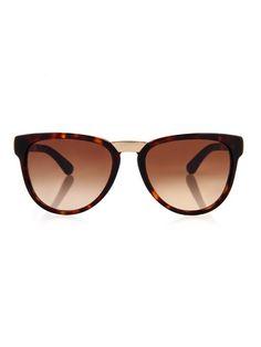 d22bb55d0c Dolce  amp  Gabbana Tortoiseshell and metal sunglasses (78.125 HUF) ❤ liked  on Polyvore