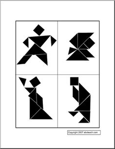 Tangrams - Free Downloadable, Create-Your-Own Activities for Kids  Try to make these patterns.
