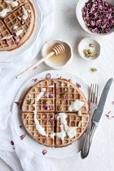 Vegan Sourdough Spelt Waffles and making your own sourdough starter - The Little Plantation Blog