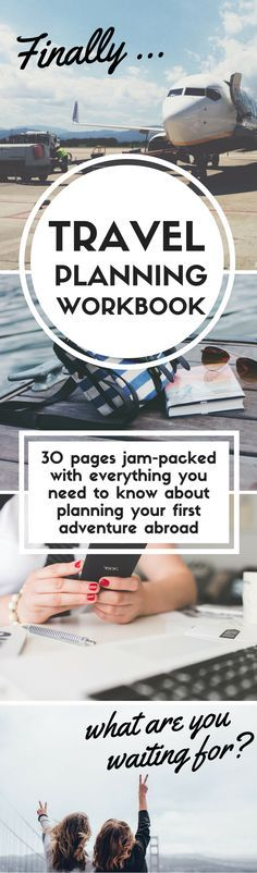 Pin & click to claim a free travel planning workbook - tons of insider tips+travel hacks!