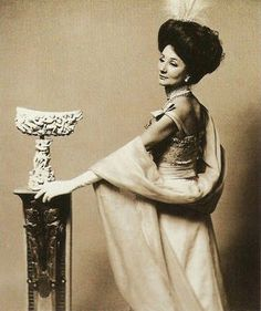 Comtesse Jacqueline de Ribes Bal Proust given by Guy and Marie-Helene de Rothschild, December 1971. Photographed by Cecil Beaton.