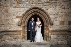 Waddesdon Dairy Wedding photography church exit shot