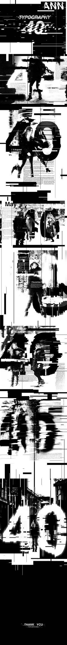 TypeGirl #art #artist #design #designer #typography #helvetica #girl #photography #photo #balckandwhite #b&w #glitch #text #number #type