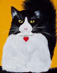 Omniversal Emperor Cat - Original Acrylic painting - feel FREE TO NEGOTIATE the price. $300.00, via Etsy.