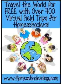 Travel the World for FREE with Over 400 Virtual Field Trip & Virtual Tours ideas for Homeschoolers Travel The World For Free, World Travel Guide, World Geography, Geography Lessons, Teaching Geography, Virtual Field Trips, Educational Websites, Home Learning, Project Based Learning