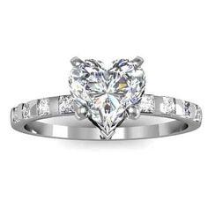 unique heart shaped diamond engagement ring