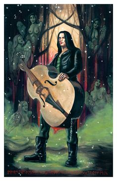 Peter Steele Type O Negative art print- 11 x 17 on Etsy, $17.00