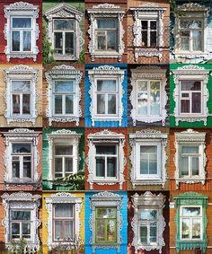 《俄羅斯手工木雕窗框》原來戰鬥民族的窗戶也是不輸任何人的華麗麗~ - 圖片1