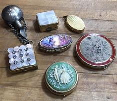 Vintage Pillbox Lot Snuff Jar Compact Trinket Boxes Art Deco Retro Vanity Locket | eBay