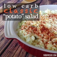 "Classic ""Potato"" Salad Shared on https://www.facebook.com/LowCarbZen"