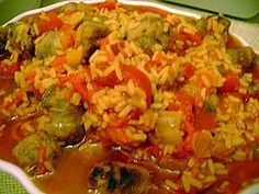 Spicy Sausage & rice
