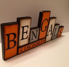 Bengals Sign  Wildcats Word Blocks  by GuidingPrintables on Etsy