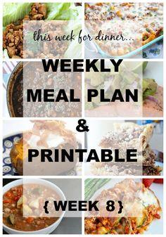 Weekly Menu Plan - The Idea Room