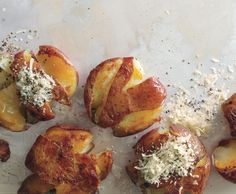 Read helpful reviews of the recipe for Panfried Smashed Potatoes, submitted by Epicurious.com members