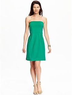 Women's Strapless Jersey Dresses | Old Navy