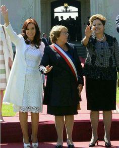 Cristina Kirchner, Michelle Bachelet e Dilma Rousseff