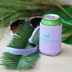 Coozie & Sunglass Strap Set in Wharf Purple Lakeside Cotton, Marley Lilly, Southern Marsh, Monogram Gifts, Jewelry Gifts, Sunglasses, Purple, Bottle, Amp