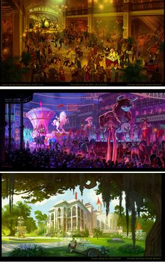 Concept Arts by Armand Baltazar for The Princess and the Frog