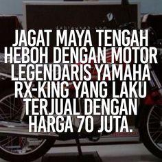 Jagat maya tengah heboh dengan motor legendaris Yamaha RX-King yang laku terjual dengan harga 70 juta. #dahtaukahfact #dahtaukah