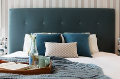 Heatherly Design's Fenwick bedhead... The perfect colours for restful slumber.