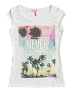 Bershka Tee - would look great with the Stud Detail Shorts Cute Graphic Tees, Festival Looks, My T Shirt, Summer Girls, Summer Looks, Festival Fashion, Summer Collection, Hippie Music, Palm City