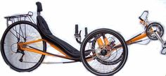 Used Recumbent Tricycles | ActionBent T1A Recumbent Tadpole Trike
