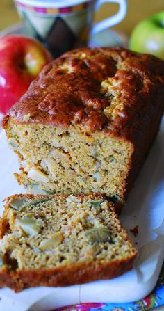 Holidays: Pumpkin Apple Banana Bread Pumpkin Recipes, Fall Recipes, Apple Recipes, Pumpkin Banana Bread, Apple Bread, Pumpkin Puree, Just Desserts, Dessert Recipes, Dinner Recipes