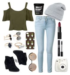 """""""Untitled #8"""" by onewithbirds ❤ liked on Polyvore featuring Frame Denim, Miss Selfridge, Accessorize, Clarks, NARS Cosmetics, Forever 21, Christian Dior, Marc by Marc Jacobs, basic and citychic"""
