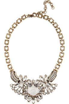 Holy perfection. J.Crew Station Agent gold-plated crystal necklace