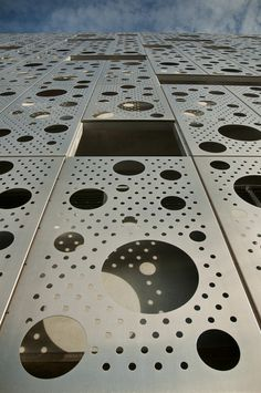 Proteus Facades perforated screen wall. Great looking!