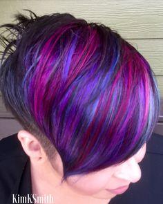 Short hair Vivid colors