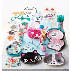 Cat Party Invitation - Kitten Birthday - Kitty Party - Cat Baby Shower - Meow Birthday - Kitten Part Birthday Supplies, Party Supplies, Cat Themed Parties, Kitty Party Themes, Party Napkins, Party Plates, Party Cups, Dessert Plates, Dinner Plates