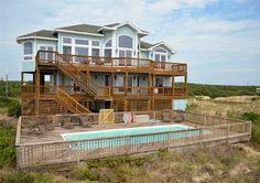 Twiddy Outer Banks Vacation Home - The Seashine - 4x4 - Oceanfront - 6 Bedrooms