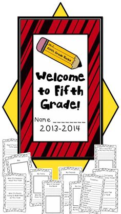 Great back to school activity to get to know your fifth graders!!!!