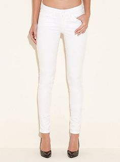 white guess skinnies