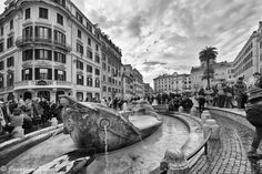 The Spanish Steps, Rome -- the Old Boat Fountain.