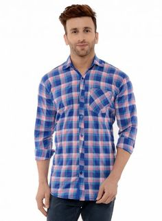 Buy Checked Brush Twill Casual Shirt Online at Low prices in India on Winsant  #shirts #casualshirt #mensfashion #fashionblogger #fashion #style #winsant #pinterestmarketing #pinterest Formal Shirts For Men, Men Shirts, Check Shirt Man, Online Shopping Websites, Men Online, Blue Check, Fabric Online, Textile Design, Workout Shirts