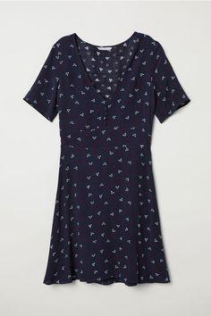Платье с рисунком - Синий/Рисунок - Женщины   H&M RU 2