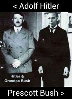 Read the Article  in the Guardian UK.....   The late US senator Prescott Bush, father of George H. W. Bush and grandfather of George W. Bush and Jeb Bush, was a director and shareholder of companies that profited from their involvement with the financial backers of Nazi Germany. It has also been suggested that the money Prescott Bush made from these dealings helped to establish the Bush family fortune and set up its political dynasty.