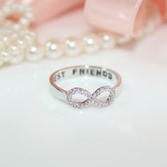 Crystal BEST Friends RING - Infinity