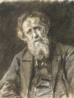 Portrait of Constantin Meunier - by Max Liebermann