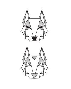 line geometric dogs - Google Search