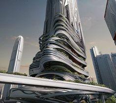 Arquitectura Grafica futurista