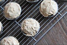 Peanut Butter Cocoa Muffins with a Peanut Butter 'Frosting'