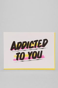 Baron Von Fancy X UO Addicted Card - cards are always a perfect side gift. This one is awesome c: