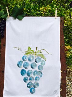 Hand painted Organic Kitchen Towels by Julia Minasian of SIP