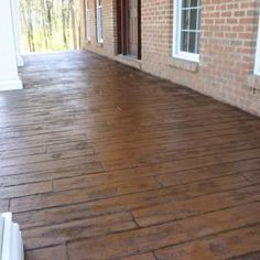 For our front porch: Stamped Concrete Porch Pattern is Wood Plank